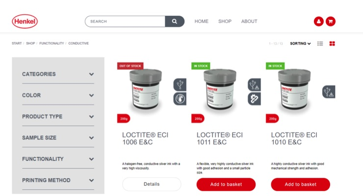 Henkel Launches Loctite B2B Online Shop for Printed Electronics Product Samples