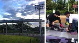 First Heliatek OPV Project in Japan at Ritsumeikan University Bus Stop