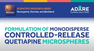 Formulation of Monodisperse Controlled-Release Quetiapine Microspheres