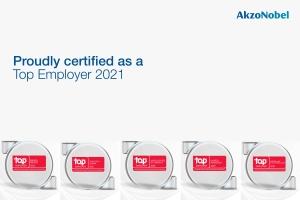 AkzoNobel Attains Top Employer Status