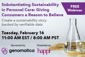 Substantiating Sustainability in Personal Care: Giving Consumers a Reason to Believe