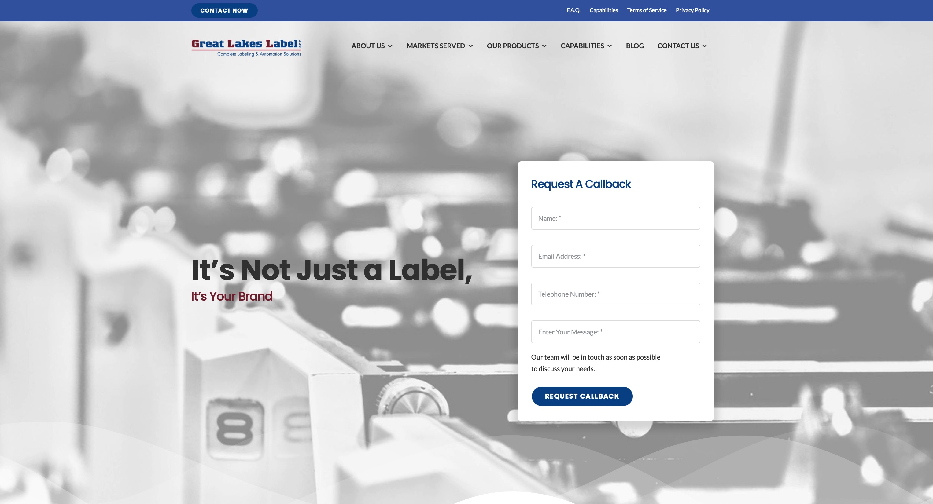 Great Lakes Label debuts new website