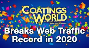 Coatings World Reaches 975,000 Visits in 2020