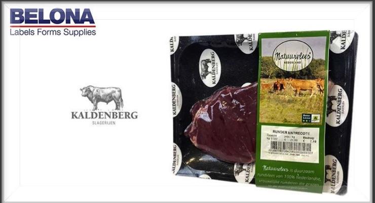 Linerless labels help Belona assist meat product client