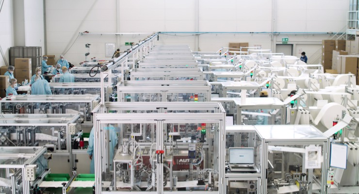 Autefa Solutions Offers Fully Automated Line for Protective Mask Production