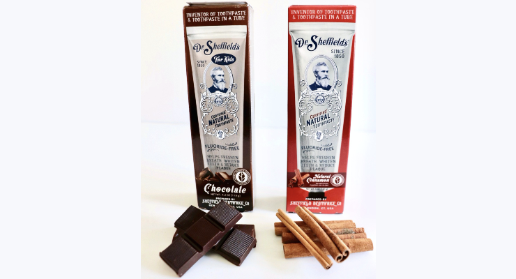 Dr. Sheffield's Adds New Toothpaste Flavors