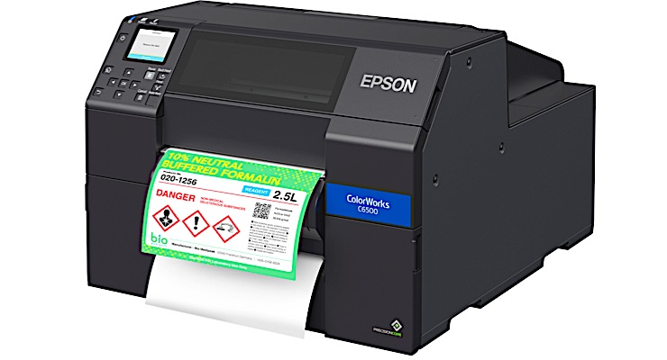 Epson reveals new ink for ColorWorks C6000-Series label printers