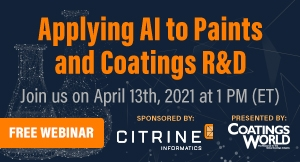 Applying AI to Paints and Coatings R&D