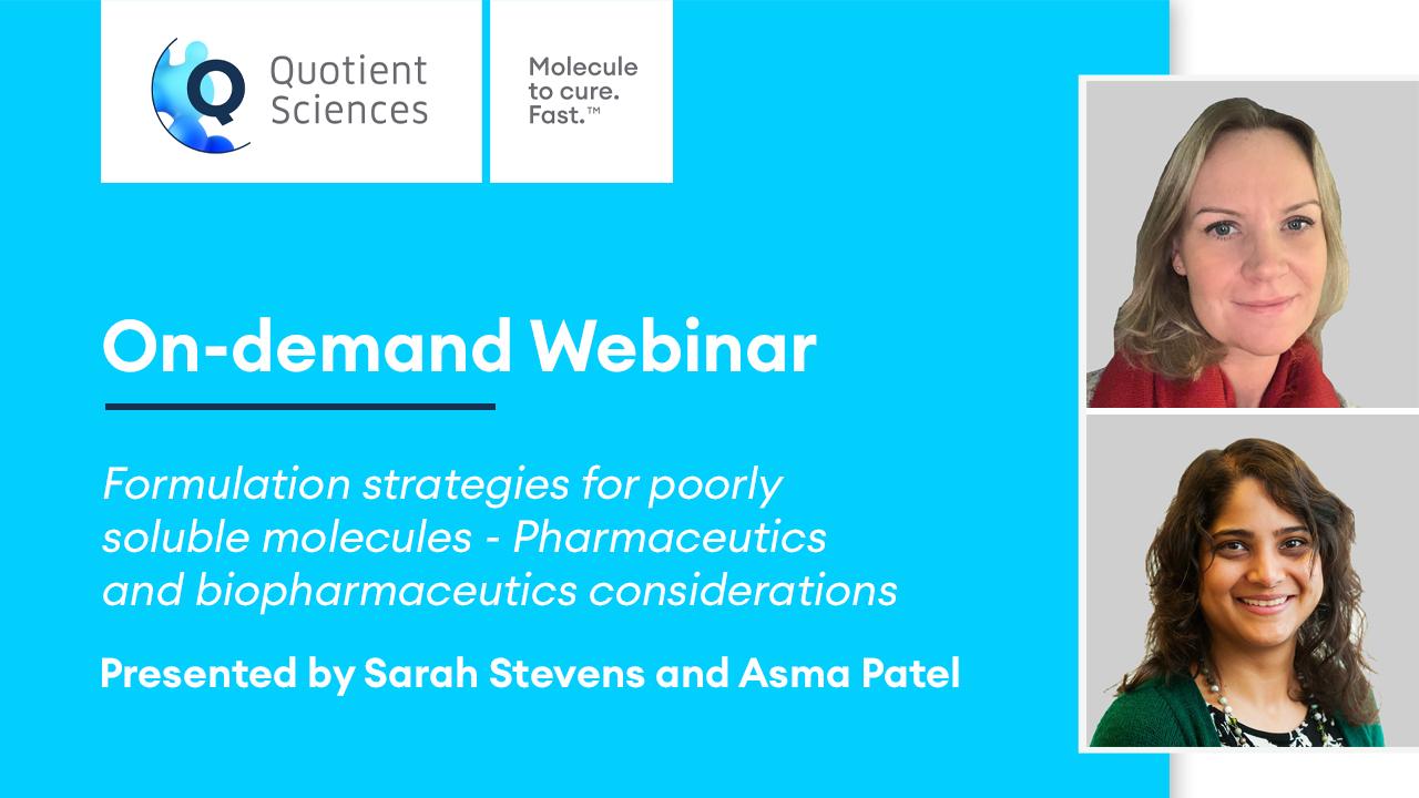 On Demand Webinar - Formulation Strategies for Poorly Soluble Molecules