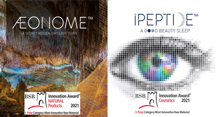 Æonome™ gold prize and iPeptide™ Bronze Prize Awarded at the 19th BSB Innovation Award®—2021