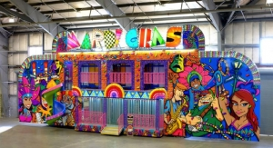 Elite Signs Uses Roland TruVIS to Create Mardi Gras-themed Carnival Ride Wrap