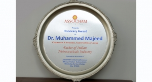Sabinsa Founder Dr. Muhammed Majeed Named Father of Indian Nutraceuticals Industry