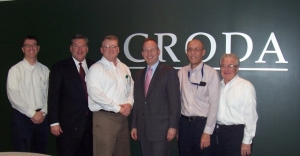 Delaware governor visits Croda's Atlas Point manufacturing facility