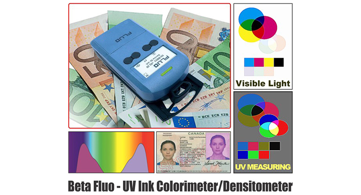 Beta Fluo Offers UV Invisible Ink Densitometers and Colorimeters