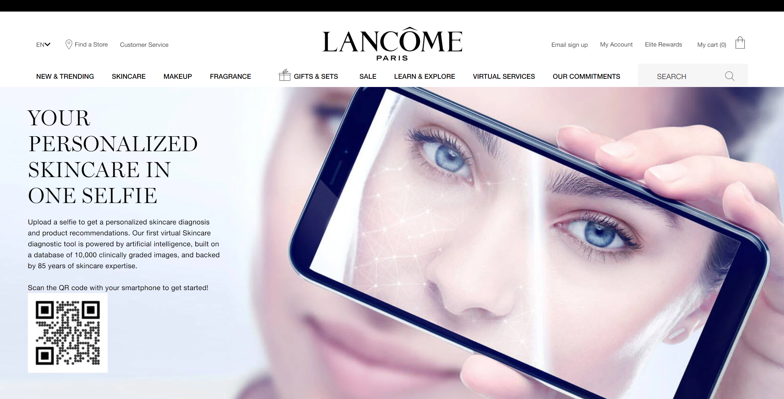 Lancome's  E-Youth Finder Analyzes Skin For Custom Beauty Routine