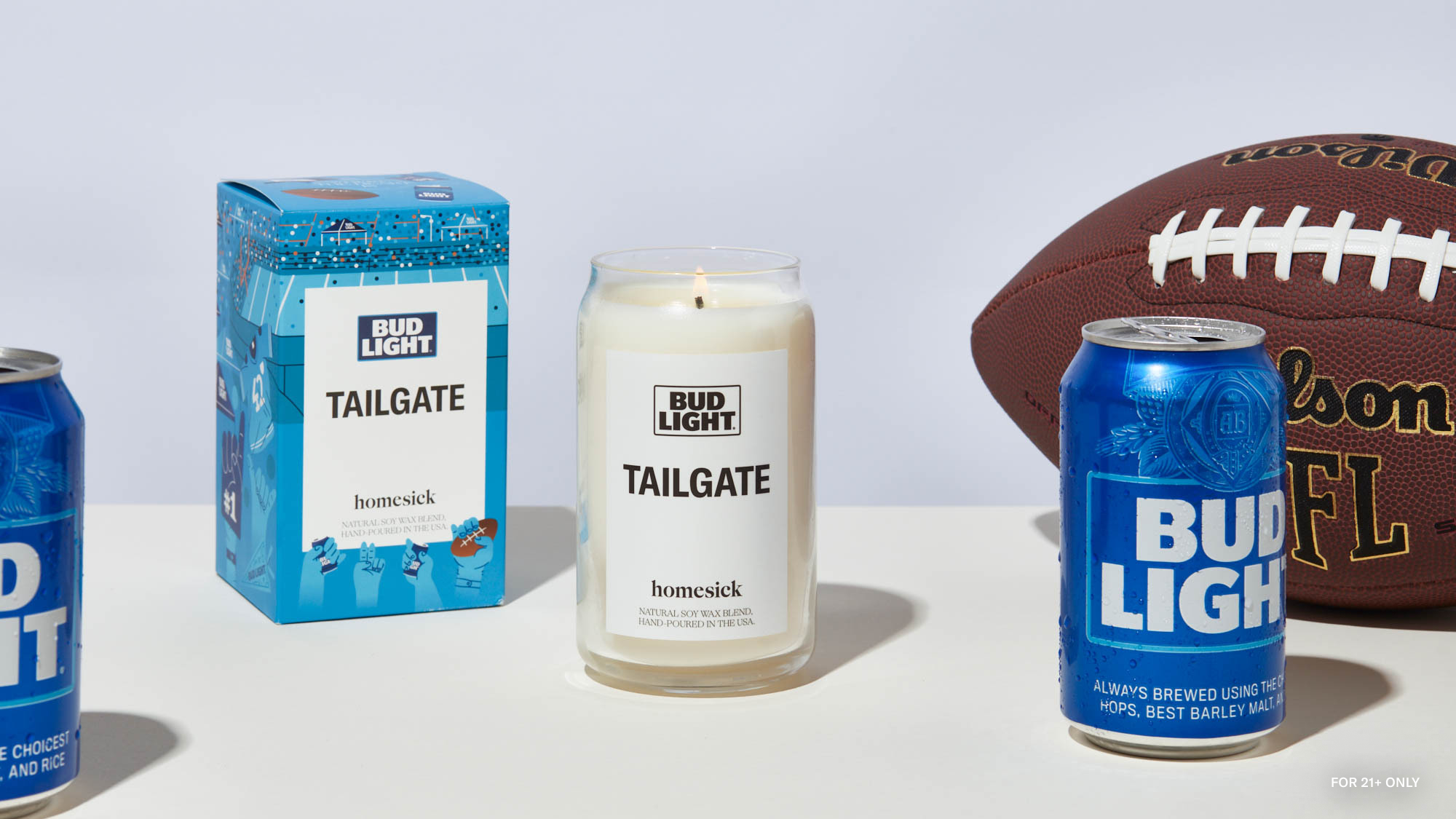Homesick and Bud Light Partner to Create New 'Tailgate' Scented Candle