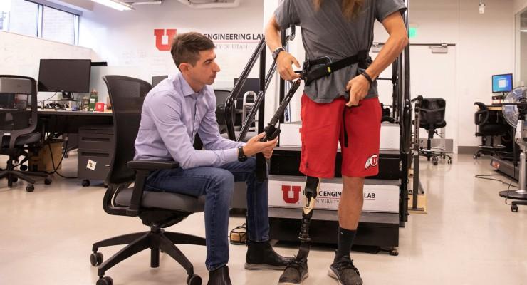 Experimental Exoskeleton Takes Walking Load Off Amputees