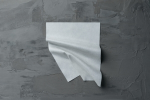 Nonwoven Wipe Substrate Made from Textile Waste