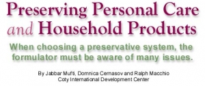 Preserving Personal Care and Household Products
