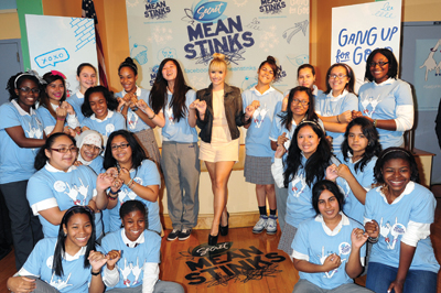 Secret Teams with Demi Lovato to End Bullying