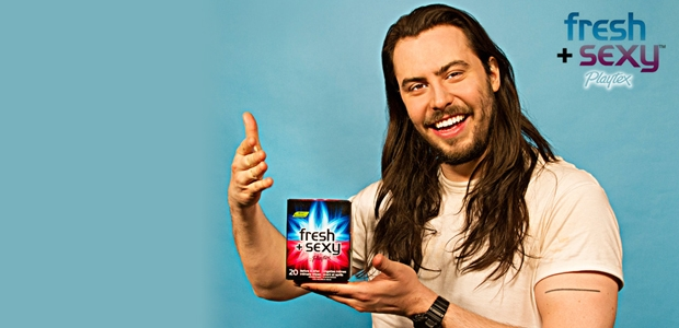 "Andrew WK is the new face of the ""fresh and sexy"" intimate wipes. Photo courtesy of the artist's website."