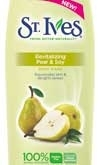 St. Ives Rolls Out Revitalizing Pear & Soy Body Wash