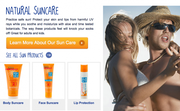 Kiss My Face Expands Into Sunscreen