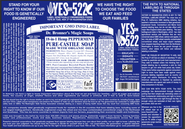 Dr. Bronner's Revamps Labels to Support Cause