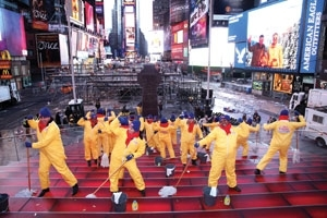 Mr. Clean Cleans Up Times Square