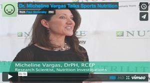 Dr. Micheline Vargas Talks Sports Nutrition