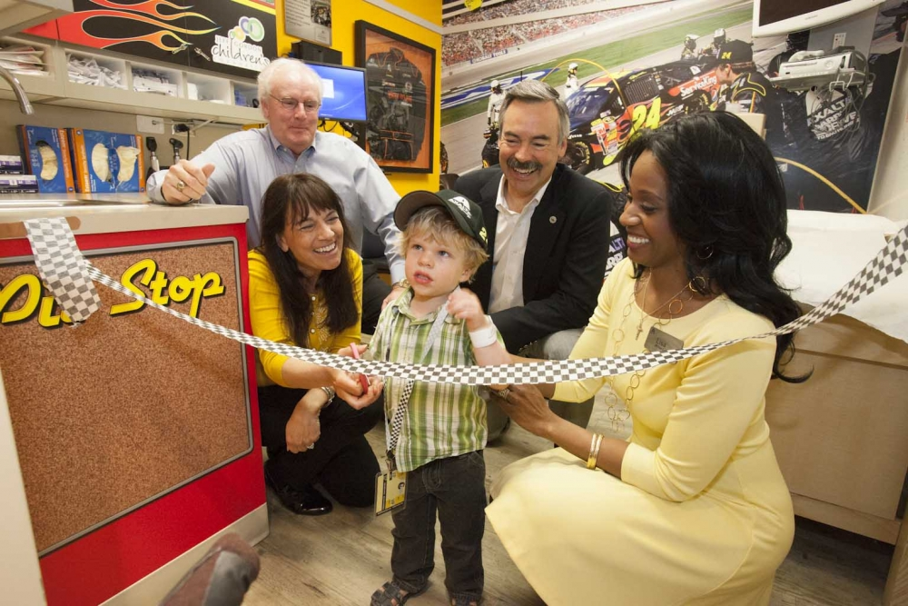 Axalta's Brilliant Flames Bedazzle Jeff Gordon Pediatric Treatment Room