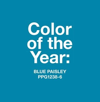 Blue Paisley Named 2015 Color of the Year by PPG PITTSBURGH PAINTS THE VOICE OF COLOR Program