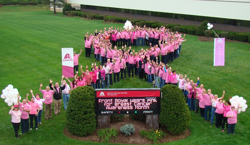 Axalta Coating Systems Employees Celebrate Breast Cancer Awareness Month