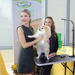 Swiffer And Sarah Hyland Support ASPCA