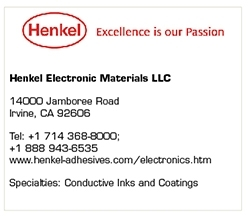 Henkel Electronic Materials is Finding New  Applications for Its Conductive Inks and Coatings