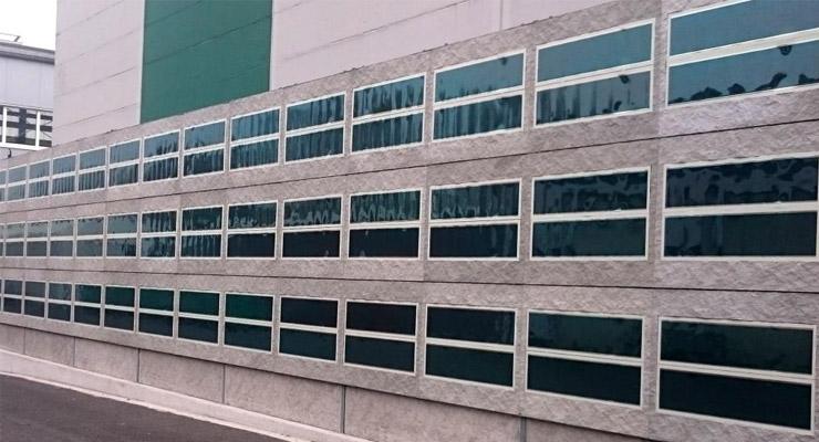 HeliaFilm Installed on Concrete Facade