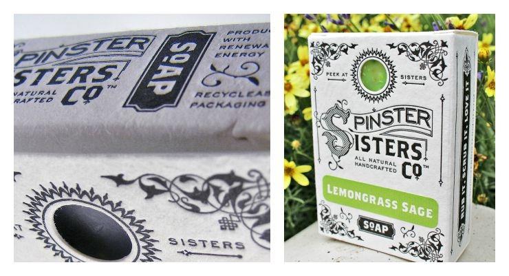 Vintage Design Elements Create Nostalgic Cartons for Spinster Sisters