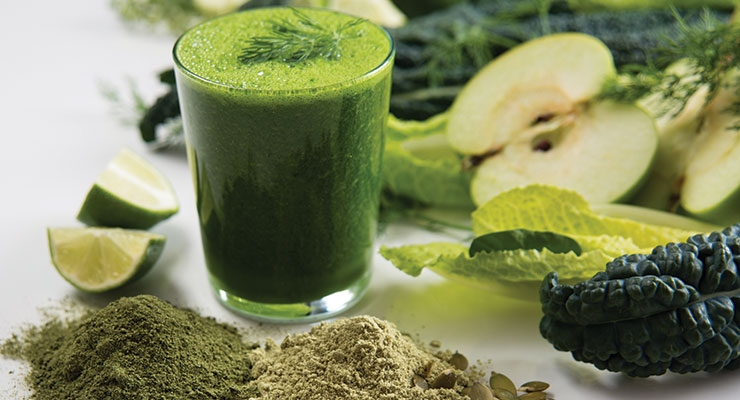 Green ingredients offer convenient and nutritious product options.