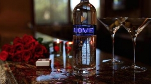 Medea Vodka bottle lights up the holiday season
