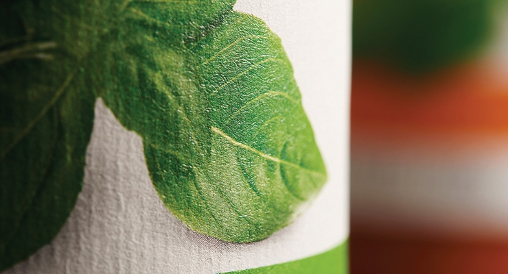 Textured paper labels offer a distinct, tactile feel.
