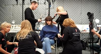 NYFW: Elizabeth Arden Red Door Spa is Busy Backstage
