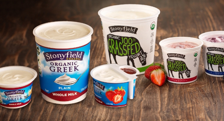 Whole milk yogurt provides protein and calcium.