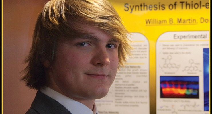 William Blake Martin received first place Undergrad Eastman Student Poster Awards.