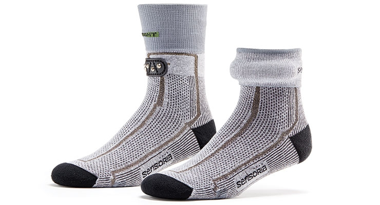 Sensoria's conductive socks. (Photo courtesy of Sensoria)