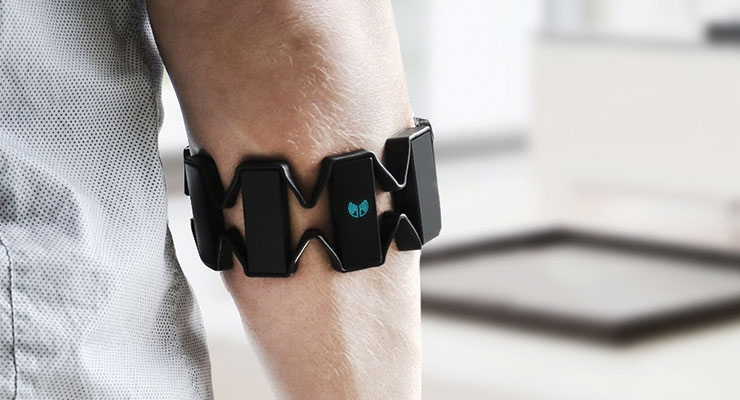 Thalmic Labs' Myo armband. (Photo courtesy of Thalmic Labs)