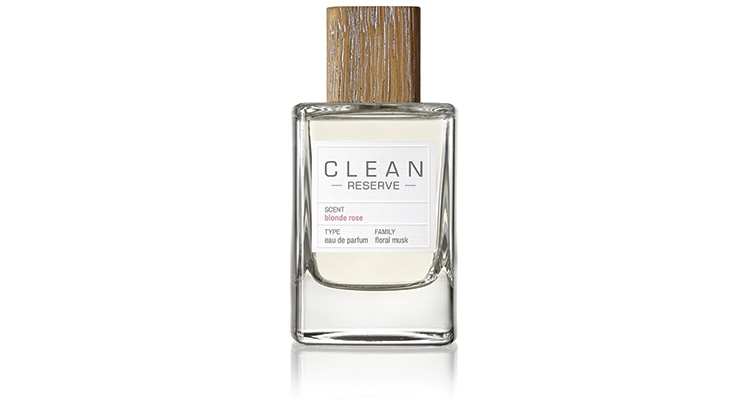 "Clean Reserve's ""green"" features include a cap made of wood from certified sustainably managed forests and a 100% recyclable glass bottle."