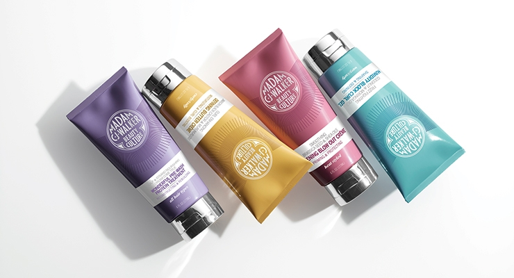 Colorful tubes by Sundial Brands' new Madam C.J. Walker line.