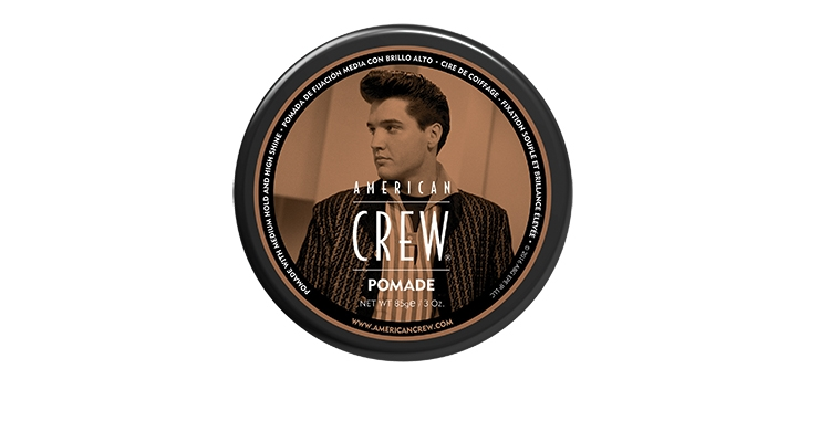 American Crew has a limited edition Elvis line with labels showing the star's iconic pompadour.