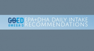 GOED Publishes EPA & DHA Intake Recommendations