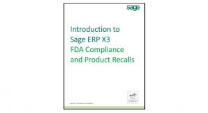 Introduction to Sage ERP X3: FDA Compliance and Product Recalls